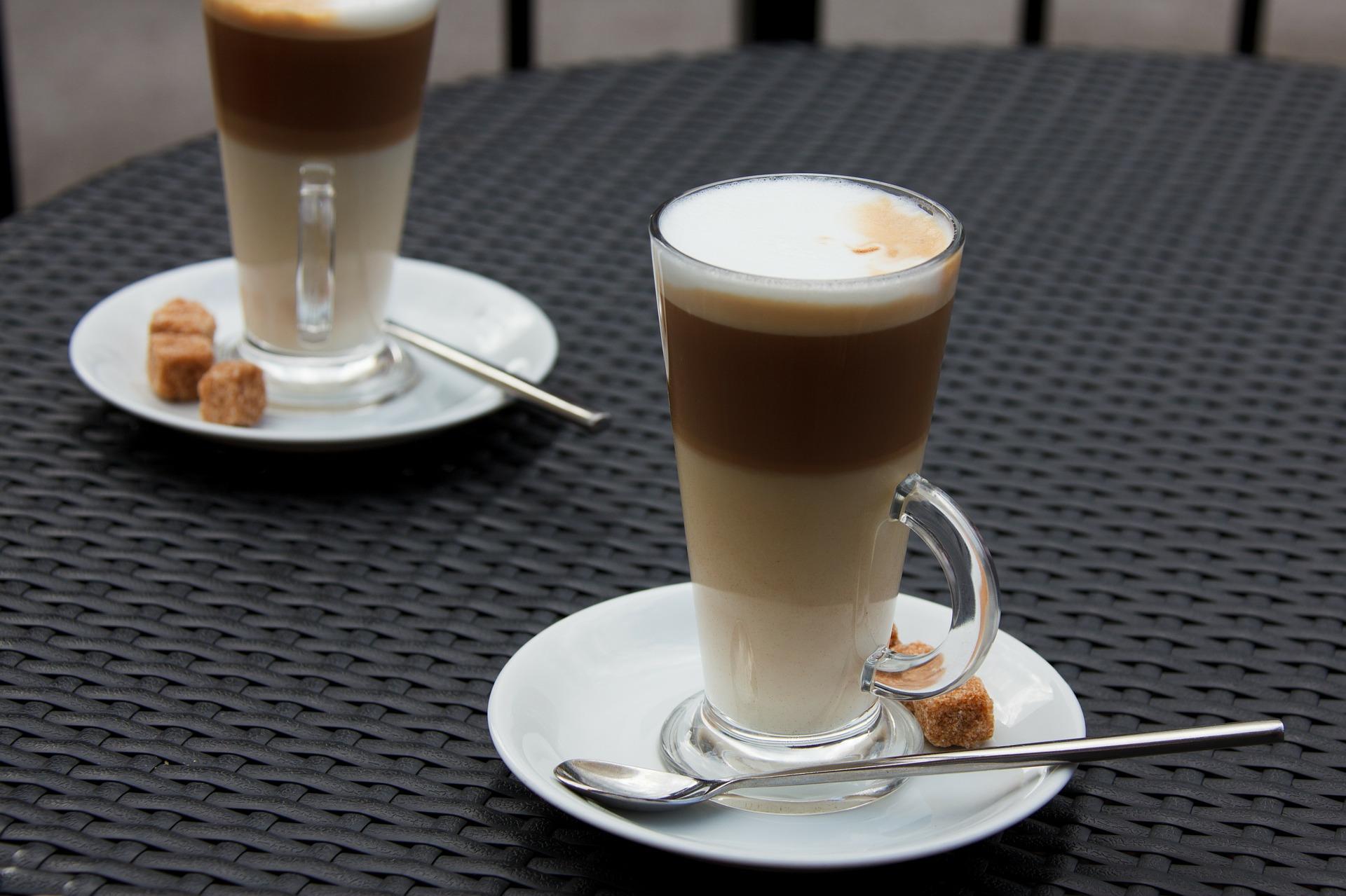 Cup of melange coffee