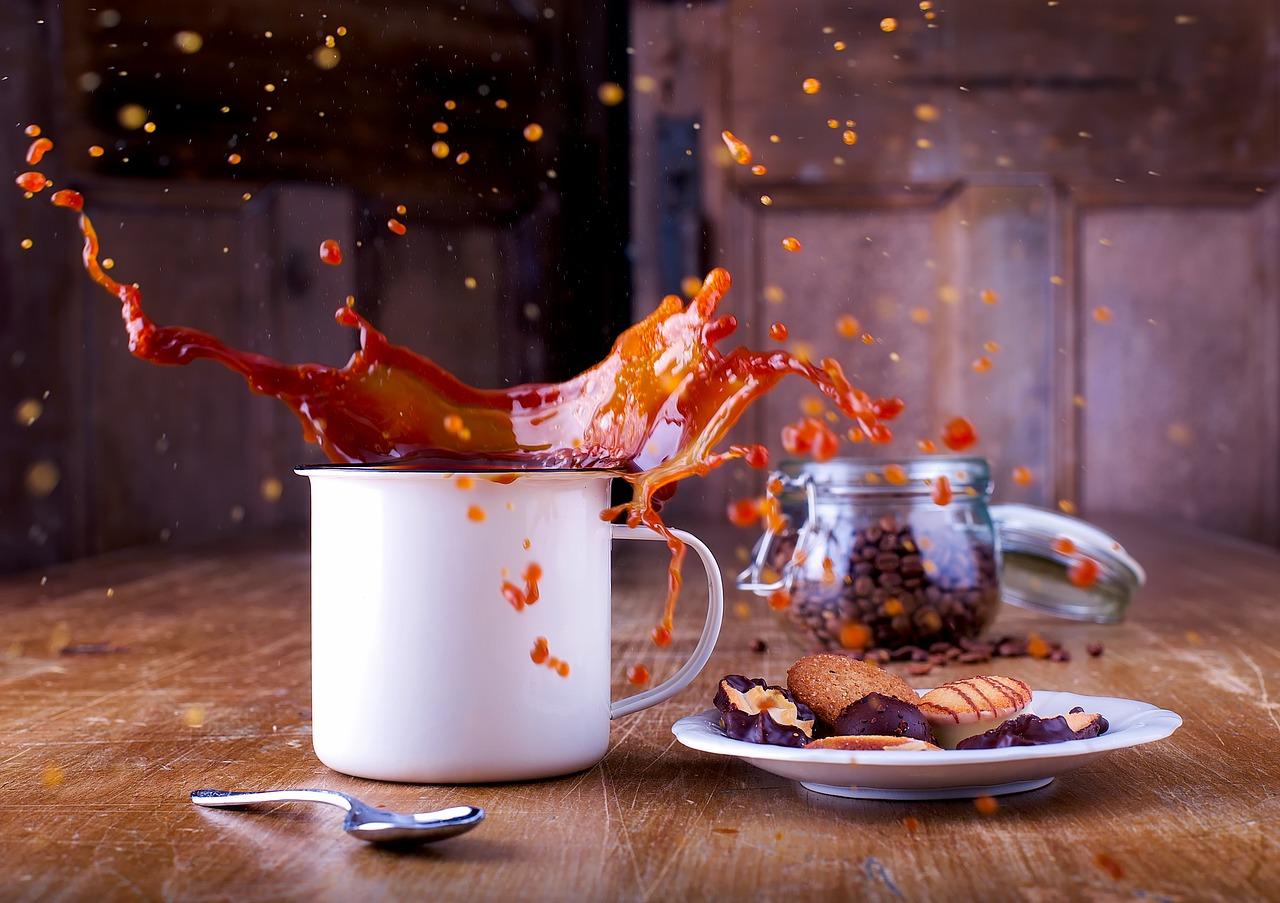 Coffee, chocolate and cookies